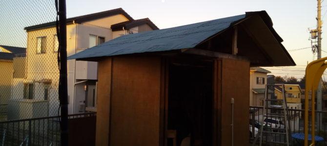 【製作】波板の屋根を張り替えるその1